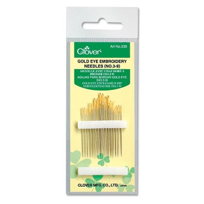 CLOVER GOLD EYE EMBROIDERY NEEDLES 235