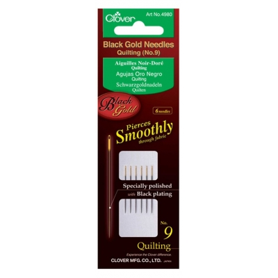 CLOVER BLACK GOLD QUILTING NEEDLES NO:9 4980 (6 PIECES)