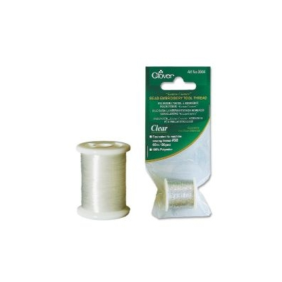 CLOVER EMBROIDERY METALIC THREAD WHITE 9904