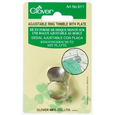 Clover Adjustable Ring Thimble With Plate 611