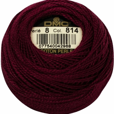 DMC Pearl Cotton 814 (No:5-8-12)