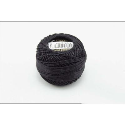 Domino Cotton Perle Black, 8-12 No