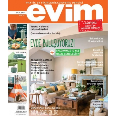 Evim Dergisi Eylül 2018