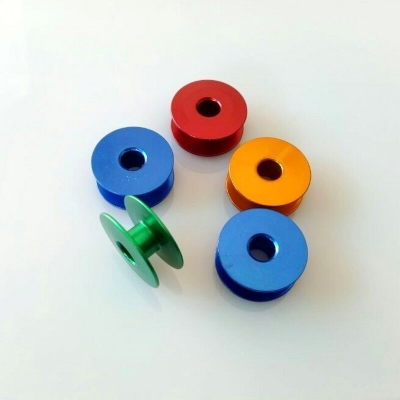 Colorful Aluminium Bobbins For Industrial Sewing Machines