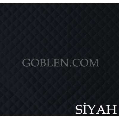 Satin Quilted Fabric Black Width:150cm