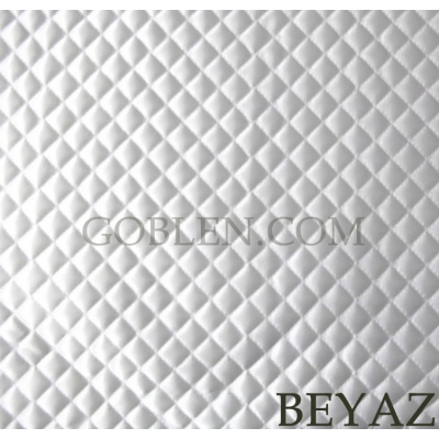 Satin Quilted Fabric White Width:2mt