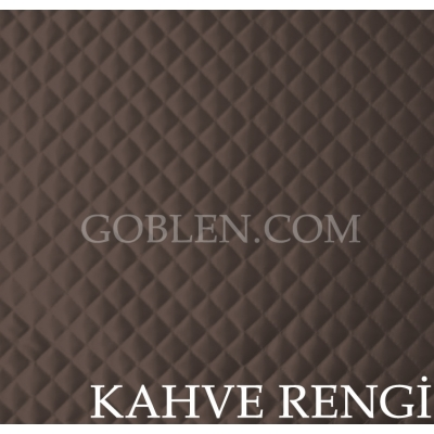 Satin Quilted Fabric Brown Width:150cm