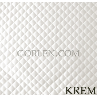 Satin Quilted Fabric Cream Width:2mt