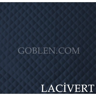 Satin Quilted Fabric Dark Blue Width:150cm