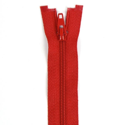 Düz Fermuar, Kırlent-Çanta-Elbise Fermuarı, 40-50-60cm Kırmızı