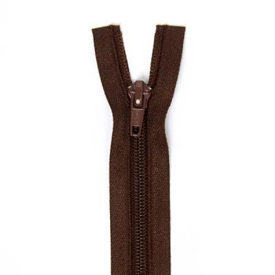 Düz Fermuar, Kırlent-Çanta-Elbise Fermuarı, 40-50-60cm Koyu Kahverengi