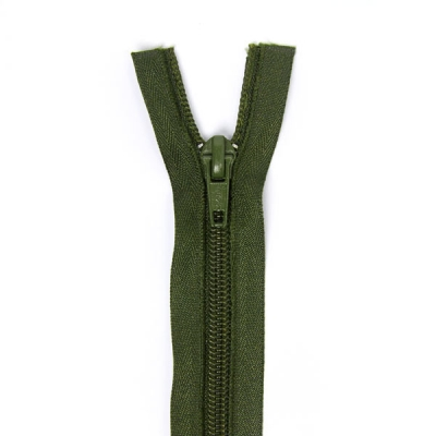 Düz Fermuar, Kırlent-Çanta-Elbise Fermuarı, 40-50-60cm Yağ Yeşili