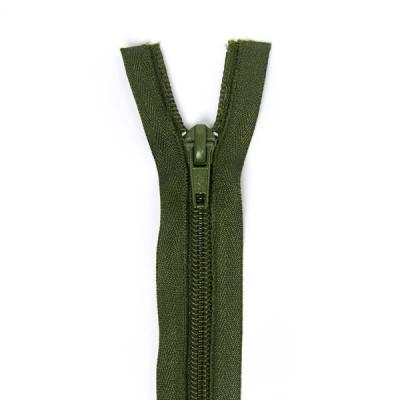 Felt Zipper 40-50-60cm, Olive Green