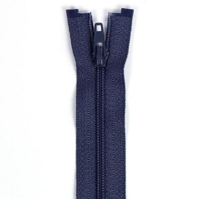 Felt Zipper 40-50-60cm, Navy Blue