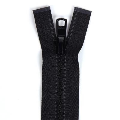 Bone Tooth Coat Zipper Black