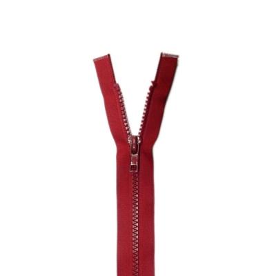 Bone Tooth Coat Zipper Red