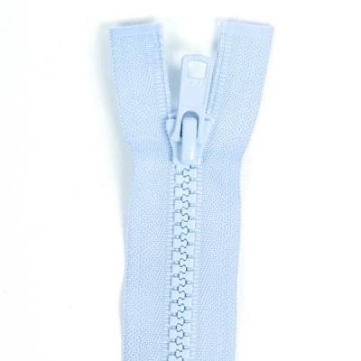 Bone Tooth Coat Zipper Baby Blue
