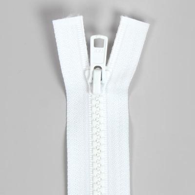 Bone Tooth Coat Zipper White