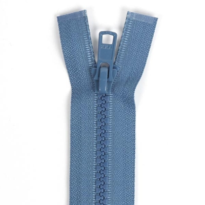 Bone Tooth Coat Zipper Denim Blue