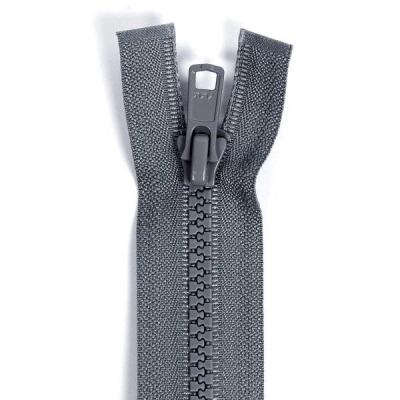 Bone Tooth Coat Zipper Dark Grey