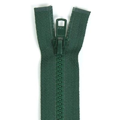Bone Tooth Coat Zipper Dark Green