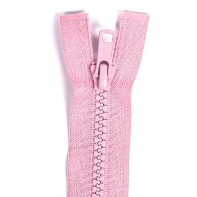 Bone Tooth Coat Zipper Pink