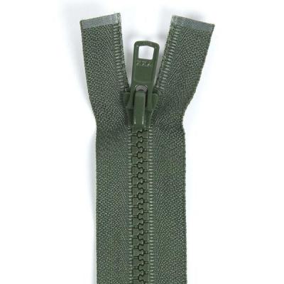 Bone Tooth Coat Zipper Olive Green