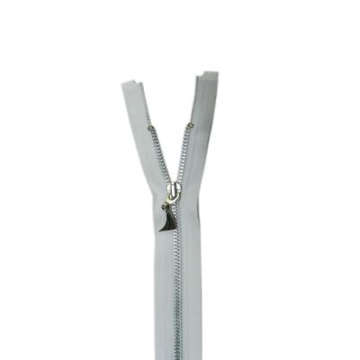 Gümüş Metal Diş Mont Fermuarı Ekru