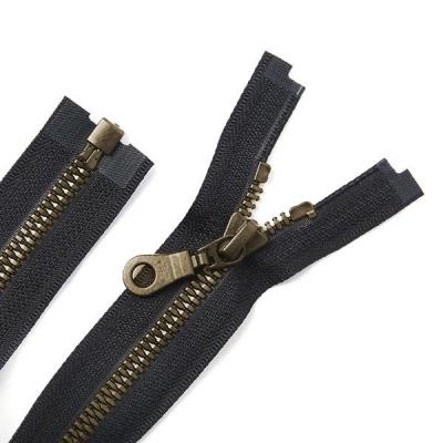 Black Oxide Metal Coat Zipper Black