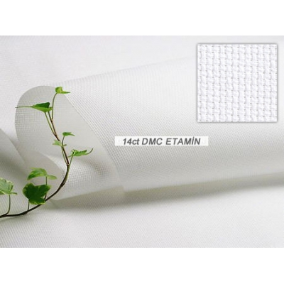 DMC 14CT AIDA FABRIC WHITE