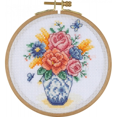 Tuva Cross Stitch Kit With Wooden Hoop ACS01