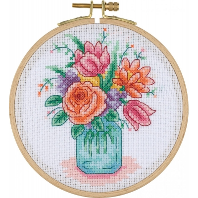 Tuva Cross Stitch Kit With Wooden Hoop ACS02