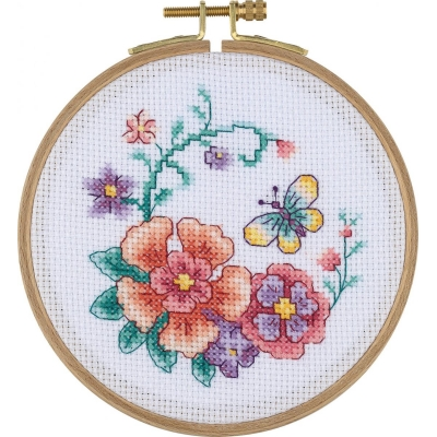 Tuva Cross Stitch Kit With Wooden Hoop ACS03