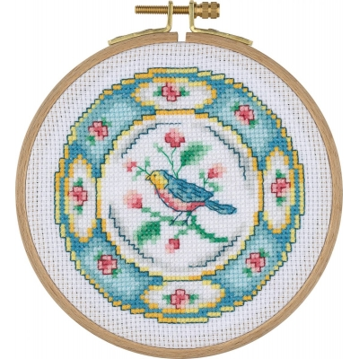 Tuva Cross Stitch Kit With Wooden Hoop ACS04