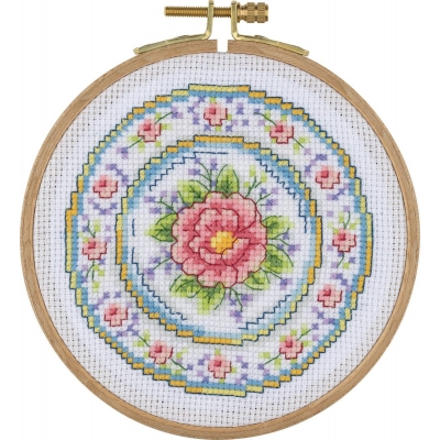Tuva Cross Stitch Kit With Wooden Hoop ACS05