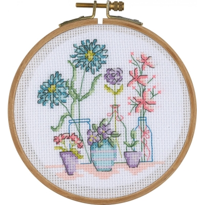 Tuva Cross Stitch Kit With Wooden Hoop ACS07