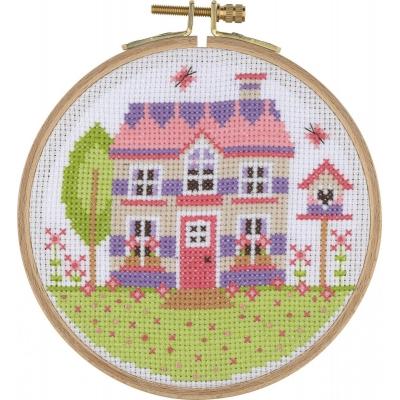 Tuva Cross Stitch Kit With Wooden Hoop ACS08