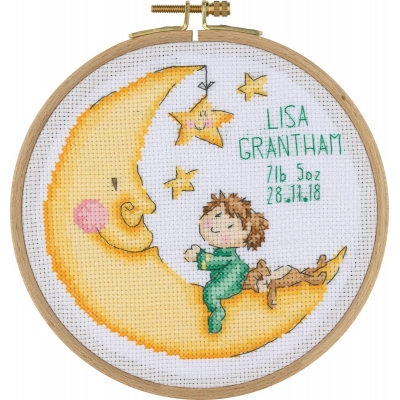 Tuva Cross Stitch Kit With Wooden Hoop BCS04