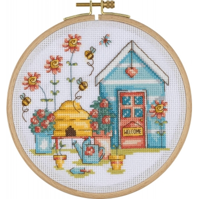 Tuva Cross Stitch Kit With Wooden Hoop BCS05