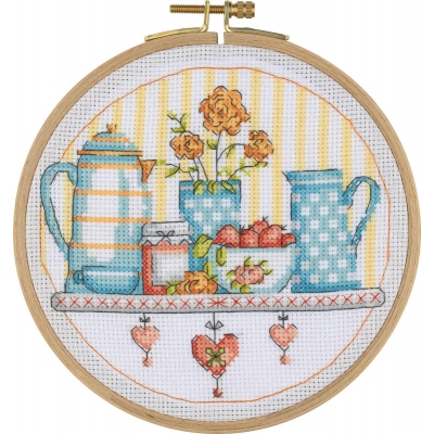 Tuva Cross Stitch Kit With Wooden Hoop BCS06