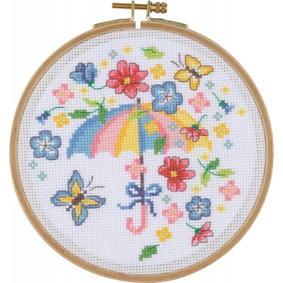 Tuva Cross Stitch Kit With Wooden Hoop BCS07