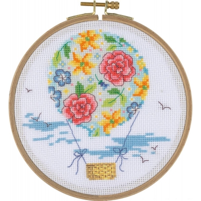 Tuva Cross Stitch Kit With Wooden Hoop BCS08
