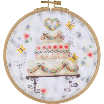 Tuva Cross Stitch Kit With Wooden Hoop BCS09