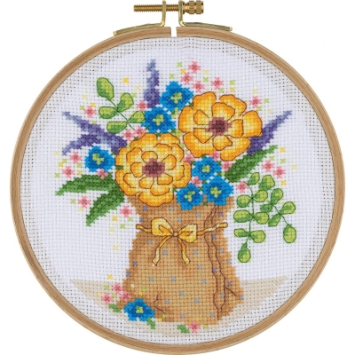 Tuva Cross Stitch Kit With Wooden Hoop BCS11