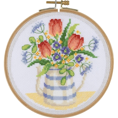 Tuva Cross Stitch Kit With Wooden Hoop BCS12