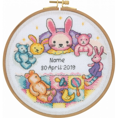 Tuva Cross Stitch Kit With Wooden Hoop CCS03
