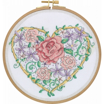 Tuva Cross Stitch Kit With Wooden Hoop CCS05