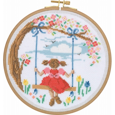 Tuva Cross Stitch Kit With Wooden Hoop CCS08
