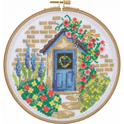 Tuva Cross Stitch Kit With Wooden Hoop CCS09
