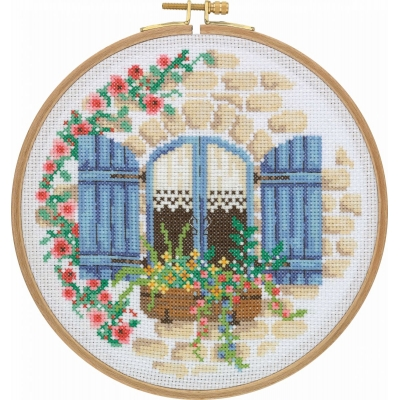 Tuva Cross Stitch Kit With Wooden Hoop CCS10